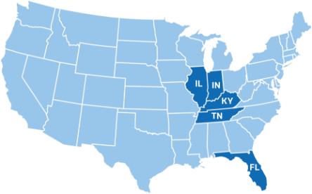 Map of Centerstone footprint