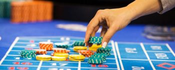 image of gambling table and chips