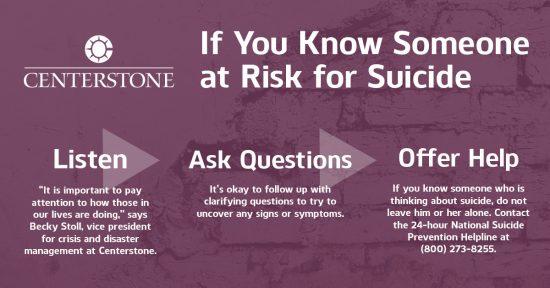 Suicide Prevention graphic 2020